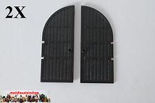2X Lego 2400 Castle Ritter Holz Burgtor Tür Gate Door 1X5X10 Schwarz Black 10027