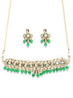 Indian Green Pearl Kundan Bridal Necklace Bollywood Wedding Women Jewelry Box