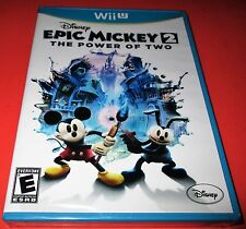Disney Epic Mickey 2: The Power of Two Nintendo Wii U *New-Sealed-Fast Shipping!
