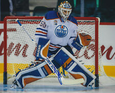 Jonas Gustavsson Autographed Signed 8x10 Photo - w/COA - NHL Edmonton Oilers