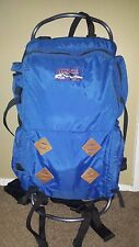 Vintage Jansport External Frame Blue Backpack +Hip Wings USA Hiking Camping