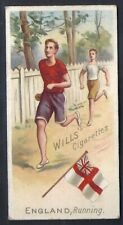 WILLS-SPORTS OF ALL NATIONS-#27- RUNNING - ENGLAND