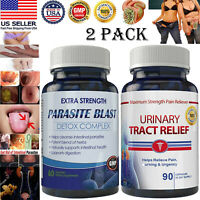 Anti Parasite Cleanse Detox Body Candida Detox Urinary Tract Infection Pills 2pk
