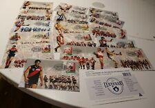 1996 AFL CENTENARY STAMP  MAXI CARDS SET OF 21