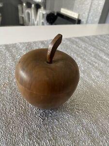 Wooden Carved Apple