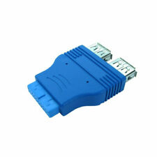 20 Pin Motherboard Header to 2x USB 3.0 Adapter Connects USB 3.0 Cables
