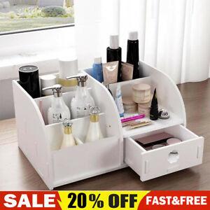 Cosmetic Make Up Drawer Pen Desk Tidy Storage Box Wooden Organiser Holder N