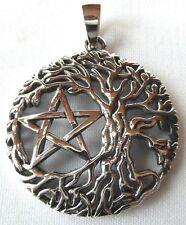 Plata Esterlina (925) Árbol de la vida con Pentagrama Colgante!!! Nuevo!!!
