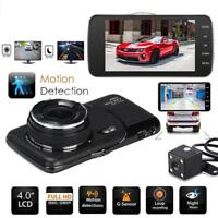 Dual Lens GPS Camera HD Car DVR Dash Cam Video Recorder G-Sensor Night Vision