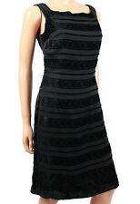 Coldwater Creek Black Velvet Burnout Dress Cocktail party M 8 P EUC Silk Blend