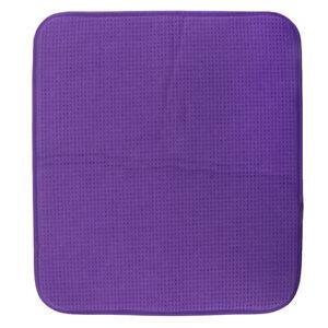 Microfibre Dish Glass Drying Draining Rack Mat Table Pad Purple Placemat