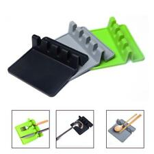 Hot Heat Resistant Silicone Spoon Rest Cooking Utensil Spatula Holder Organizer