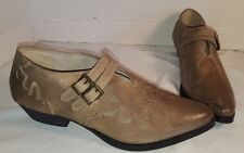 ANTHROPOLOGIE FREE PEOPLE TAUPE MONTEREY WESTERN SHOE BOOTS US 9 EUR 39