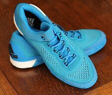 Adidas Cyan Basketball Shoes Bright Blue Gym Sneakers S85577 - Men's 15 - NEW!