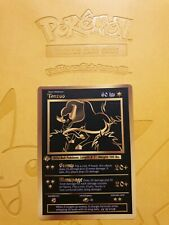 Pokemon Base 1st Tauros Gold LUXURY CARD custom card Christmas gift