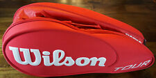 Wilson Tour 6-Racquet Tennis Bag - Red and White