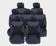 7x  Sitze Sitzbezüge Schonbezüge Schwarz Komplettset für SEAT ALHAMBRA CITROEN