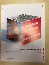 Vtg Tnemec Co Brochure ~ Shop Field Coats Finish Systems ~ Steel Paint Primer