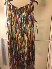 NWT ILE New York Multicolored Dress; Sz 22W; Sleeveless; Mid Length; $70
