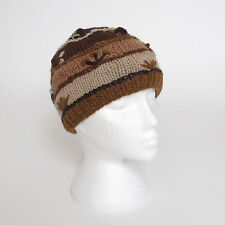 Funky Hand Knitted Winter Woollen Crazy Stitched Beanie Hat UNISEX CSB5