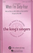 Beatles When Im Sixty-Four SATTBB Learn Sing Vocal Choral Voice Music Book