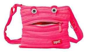 Shoulder Bag Mini Zipit® Monster Made from One Long Zipper -Hot Pink