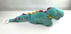 Vintage Eden Toy Musical Blue Dragon Dinosaur Plush When You Wish Upon A Star