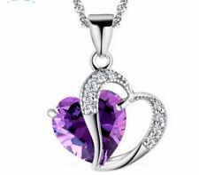Halskette mit Herzanhänger Modeschmuck Kette Anhänger Schmuck Kristall Strass
