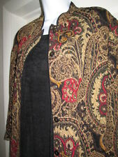 Womens 3pc Skirt Blouse Jacket Black Brown Red Gold Holidays or Travel SM