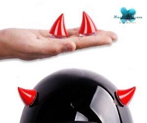 2Pcs Motorcycle Helmet Devil Horn with Rubber Suction Cups Helmet Decoration_USA