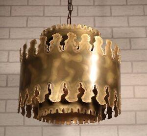 WOW - rare Designer Lampe - Svend Aage Holm Sorensen - BRUTALIST - 60s Dänemark