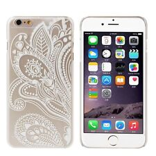 Grass Pattern Flower Clear Plastic Hard Cover Case Skins For iphone6 6G 4.7Inch