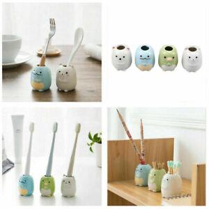 Lovely Ceramic Toothbrush Toothpick Pencil Pen Holder Mini Plant Flower Pot Deco