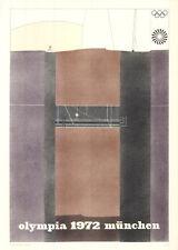 Olympische Spiele 1972 München Kunst-Motiv Plakat Günter Desch OLYMPIADE