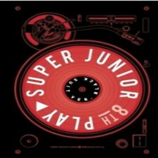 Super Junior-[Play] 8th Album Black Suit Ver CD+Poster+Booklet+Card K-POP Sealed