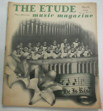 The Etude Magazine Down To Mexico & Heart Of The Blues March 1940 013015R