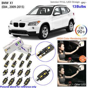 13 Bulb LED Interior Dome Light Kit Xenon White For BMW X1 E84 Panoramic Sunroof