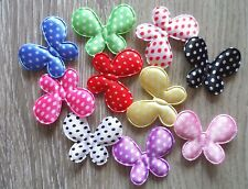 100pcs Padded Felt Dots Butterfly Appliques Craft 10 Color 28mm*34mm