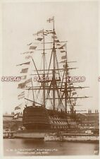 """Royal Navy RP Postcard. HMS """"Victory""""  104-gun first-rate. Reconstructed 1928"""
