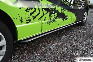Side Bars For Nissan NV300 SWB 2014+ BLACK Polished Curved Stainless Steel Tubes