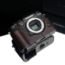 New GARIZ Fujifilm X-T2 Leather Half Case Black For Fujifilm X-T2 Case XT2 Case