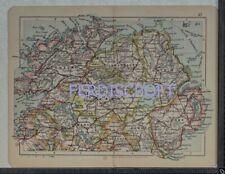 1898 Bacon's Road Railway Map of Ulster, Ireland