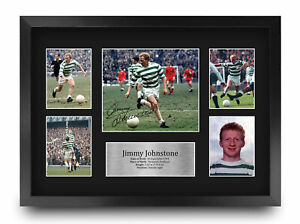 Jimmy Johnstone Celtic Gift Ideas A3 Printed Autograph Picture for Football Fans