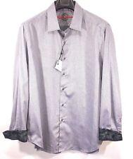 Robert Graham Men/'s Long Sleeve Long Lane Striped Button Front Shirt Orange