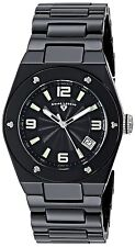 Swiss Legend Throttle Black Ceramic Women's Quartz Watch 10054-BKBTSA
