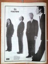 DAVID BOWIE TIN MACHINE Poster Size Press ADVERT 16x12 inches