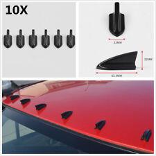 10Pcs Car Air Vortex Generators Bumper Spoiler Shark Fins Kit Carbon Fiber Color