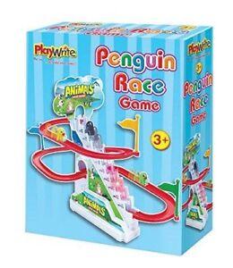 PENGUIN RACE GAME - 385-210 ANIMALS FUN GAME TRACK NOVELTY BIRD FUN CHASE KIDS