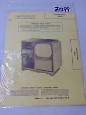 SAMS PHOTOFACT FOLDER MANUAL & SCHEMATIC TV PACKARD MODEL 2803TV COMBO