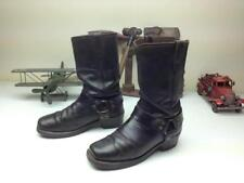 VINTAGE COOL LOOK BLACK DISTRESSED DINGO ENGINEER SQUARE TOE HARNESS BOOTS 8.5 D
